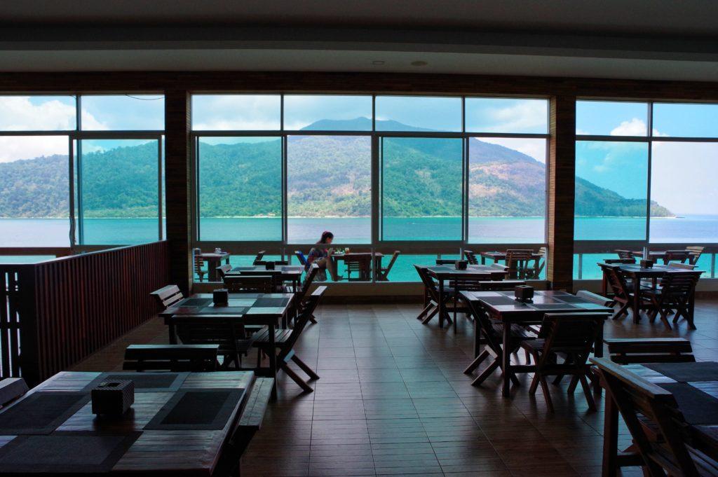 絶景レストランの店内